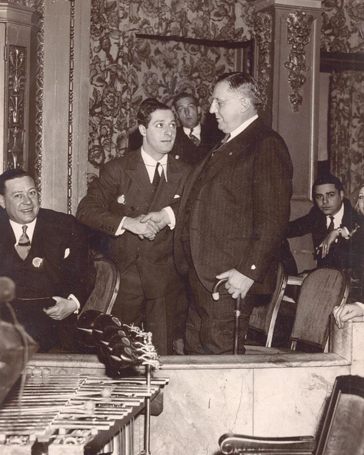 George Jessel Meets Chicago Mayor William Hale Thompson