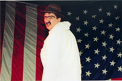 """Trav S.D. as Preacher Bob in the 2000 NY Fringe production of """"House of Trash"""""""