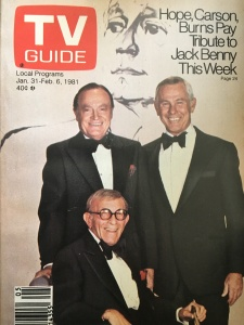 TV Guide ad for George Burns Bob Hope Johnny Carson tribute to Jack Benny