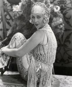 Actress Anita Garvin Wearing Beaded Outfit