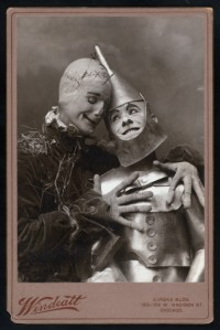 The first Tin Man; with partner Fred Stone as Scarecrow