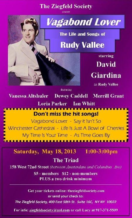 Rudy Vallee Flier