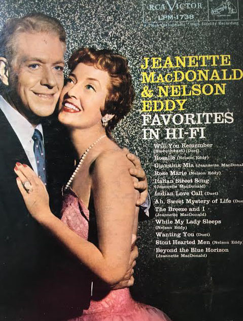 Nelson Eddy and Jeanette MacDonald record jacket