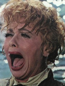 Lucille Ball, crying