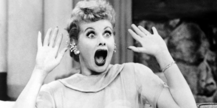 Lucille Ball, funny face, 1950s, I Love Lucy