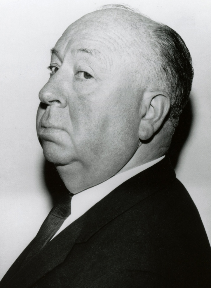 FAMED FILM DIRECTOR ALFRED HITCHCOCK PICTURED IN UNDATED PUBLICITY PHOTO