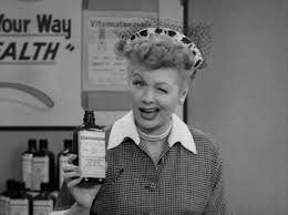 Lucille Ball, I Love Lucy, 1950s, Vitameatavegamin