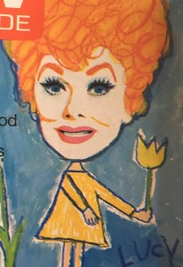 Lucille Ball, caricature, TV Guide, circa 1970s
