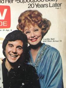 TV Guide, Lucille Ball and Desi Arnaz Jr circa 1970