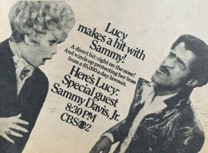Here's Lucy, Lucille Ball, Sammy Davis Jr, TV Guide, ad