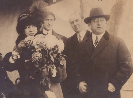 Bernardt with booker Martin Beck. The Billy Rose Theatre Collection, The New York Public Library for the Performing Arts