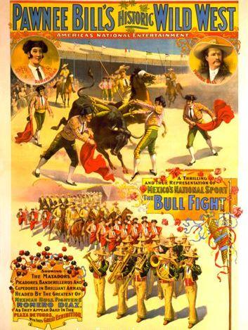 Pawnee Bill Wild West Show, 1898, Strobridge Litho. Co-500