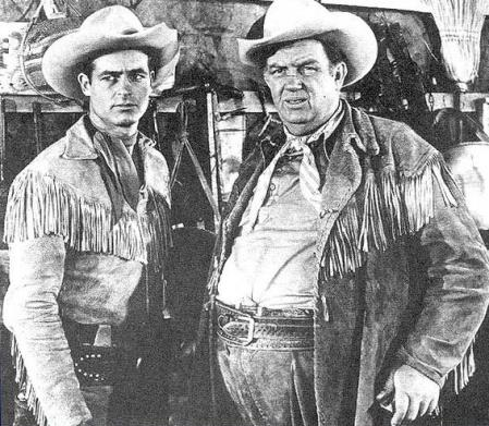 Guy Madison and Andy Devine in the tv version