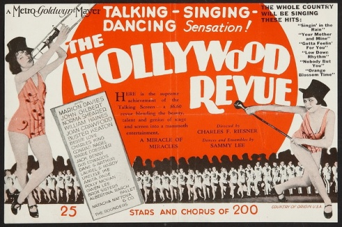 Image result for hollywood revue of 1929 poster