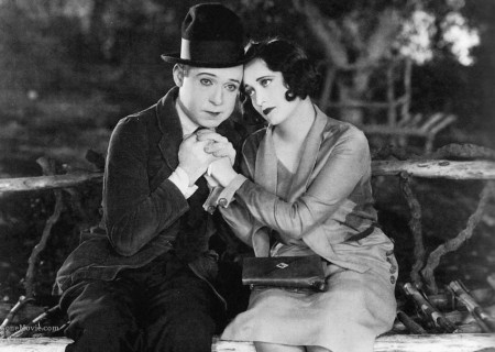 "Harry Langdon and --yes! -- Joan Crawford in ""Tramp, Tramp, Tramp"""