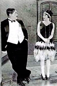 "Eugene Palette and Mabel Normand in ""Should Men Walk Home?"""