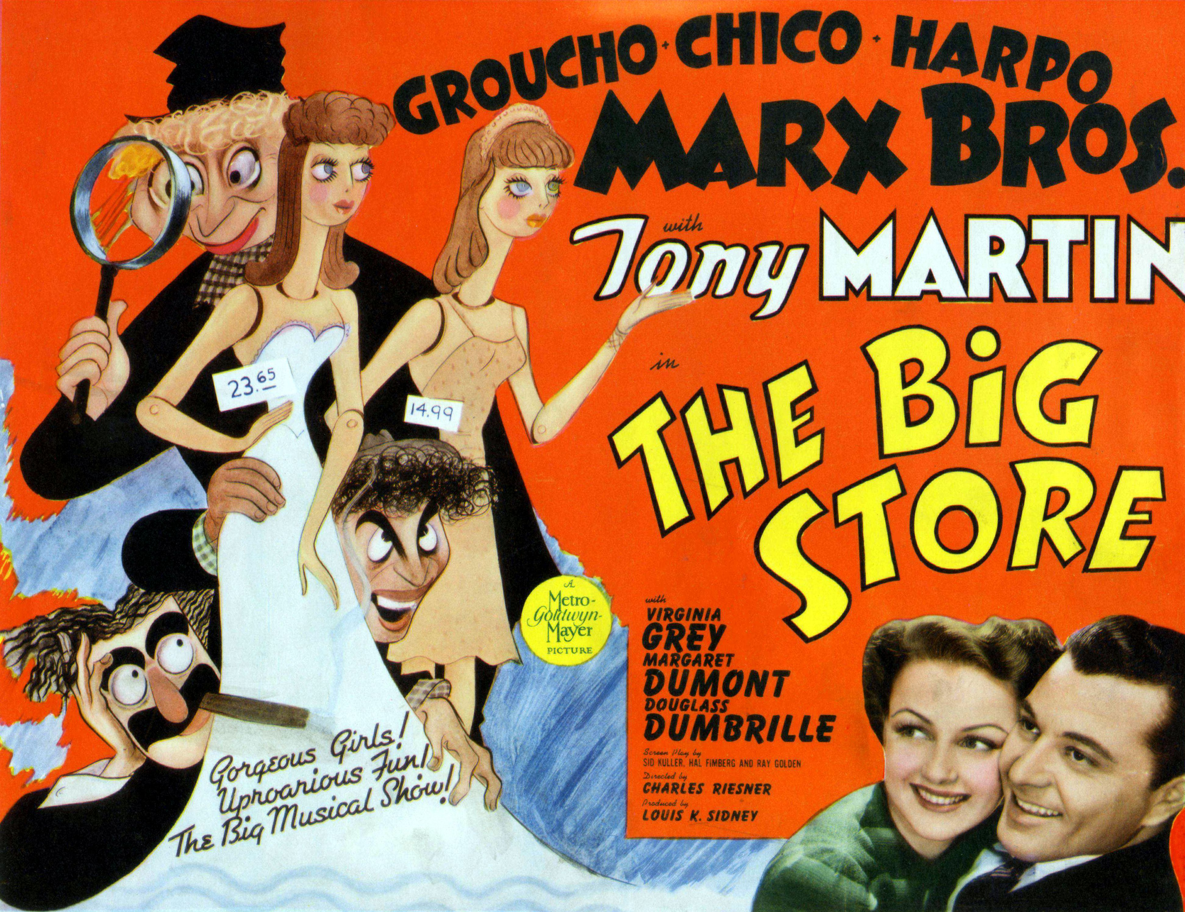 �the big store� the marx bros descend to the bargain