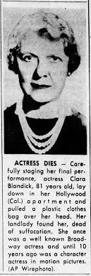 Clara Blandick suicide obituary