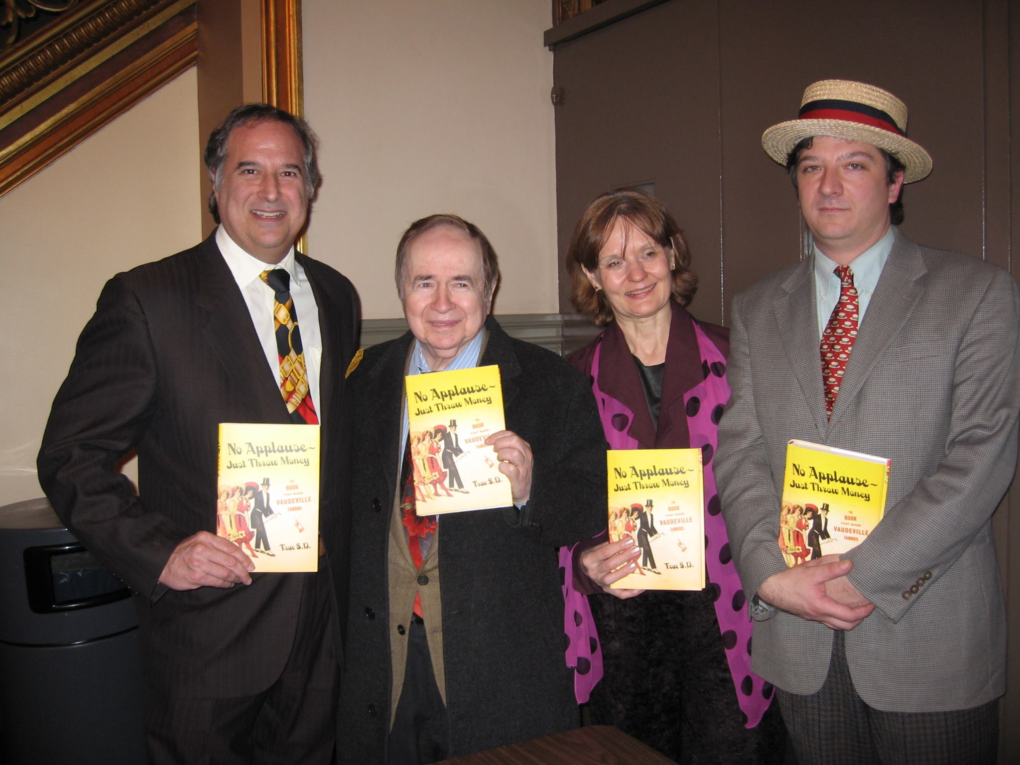 With Broadway producer Stewart F. Lane and Theatre Museum director Helen Guditis. Photo by Bonnie Comley