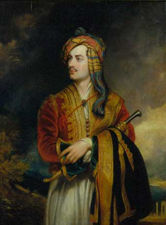 Lord Byron, Affecting the Native Costume of the Albanians