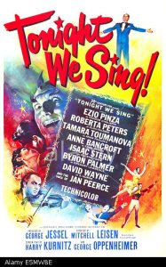 TONIGHT WE SING, US poster art, 1953. TM and copyright ©20th Century-Fox Film Corp. All Rights Reserved / Courtesy: Everett