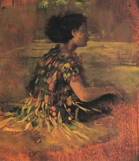519px-John_La_Farge_-_Girl_in_Grass_Dress_(Seated_Samoan_Girl)_(1890)