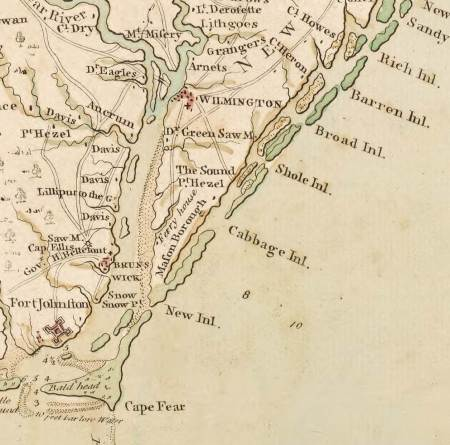 Collet_Map_excerpt_showing_Wilmington_and_Brunswick