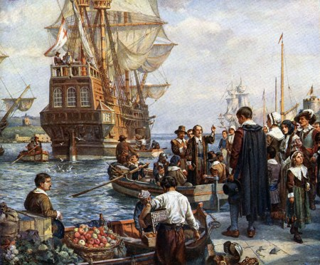 Polgrims-Boarding-the-Mayflower