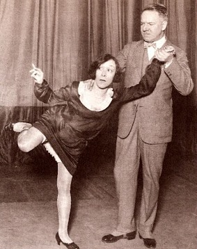 The Great Man with his frequent sketch partner Ray Dooley in the 1924-1925 Follies, ten years after his debut