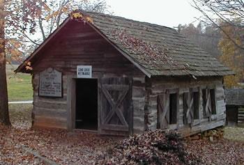 Contemporary replica of the original Cane Creek Friends' Meeting House