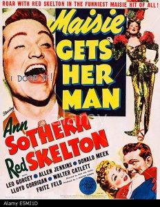 MAISIE GETS HER MAN, US poster, Red Skelton, Ann Sothern, 1942