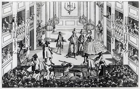 Riot at Covent Garden Theatre in 1763