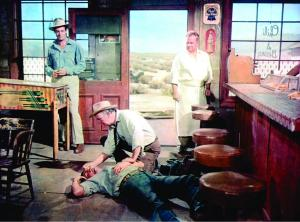 still-of-ernest-borgnine,-walter-brennan,-robert-ryan-and-walter-sande-in-bad-day-at-black-rock-(1955)-large-picture