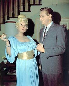 """West with """"Mr. Ed""""'s human co-star Alan Young"""