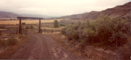 Entrance to the dude ranch where we stayed. We were the dudes who stayed with a dude what wasn't a