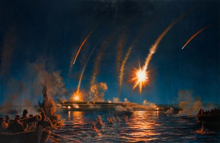war_of_1812_Naval_Attack_Fort_McHenry_Perilous_Night_painting_Peter_Rindlisbacher_lg