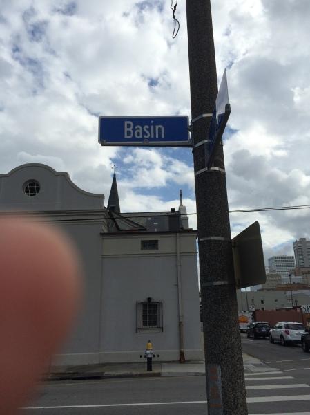 Basin street sign