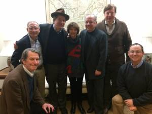 The Fields Fest Committee, including two of W.C. Fields grand kids, Harriet and Ronald