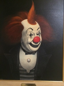 "In case you wanted to see what Bert Lahr might look like in Stephen King's ""It"""