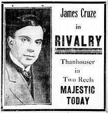 Jamescruzeinrivalry-newspaperad1914