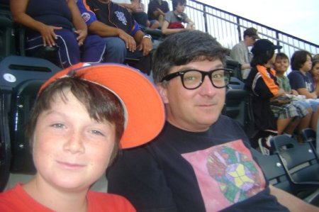With dad at Met's game, 2009