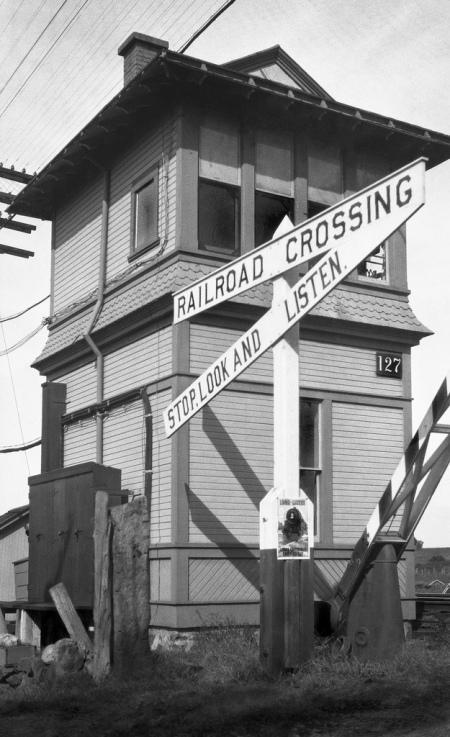Shannock's idea of a train stop, circa 1921