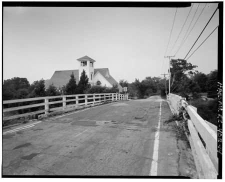 """The road into town, with the Baptist church on the left. In my day the pastor there was """"Preacher Bob"""" Barnett, whose name I confess to copping for my play """"House of Trash"""""""