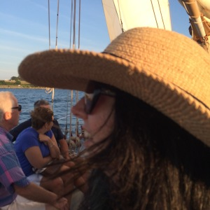 Carolyn on sail boat