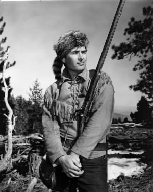 Parker as Daniel Boone. Notice the difference?