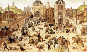A painting of the Massacre by the Huguenot Francois Dubois