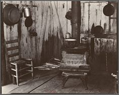 "Walker Evans photos for ""Let Us Now Praise Famous Men"" were taken in Hale County, Alabama. Grandp Stewart's mother, and one of his great-grandmothers were Hales. This is literally what their house would have looked like"