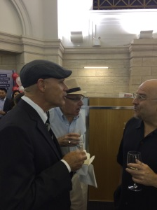 David Mulkins of the Bowery Residents Committee, principle mover, shaker and chief bottle washer of the project talks to Ralph Lewis of Peculiar Works Project (whom I learned last night lives in one of the historic buildings!)