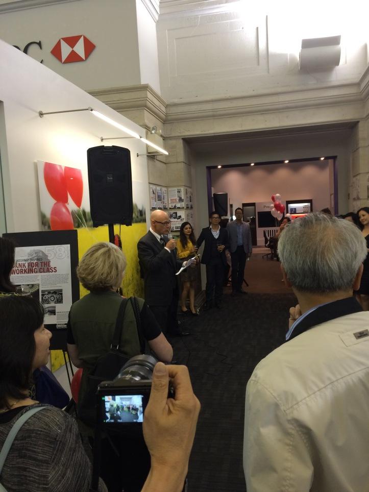 Mulkins addresses the adoring throngs
