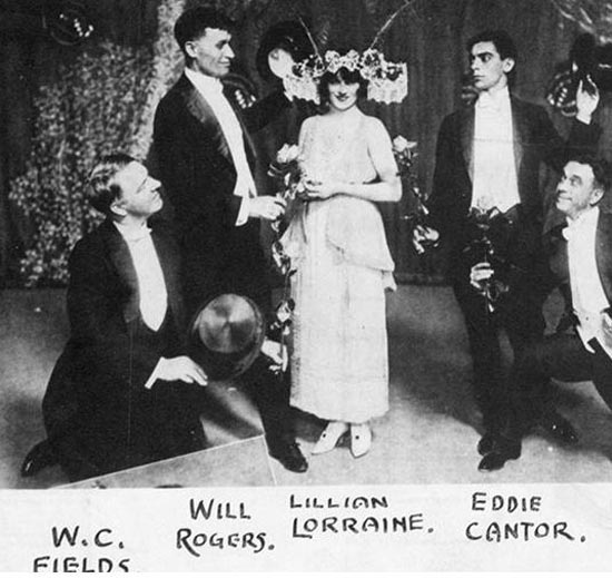 Fields and his comedy cohorts from the Ziegfeld Follies